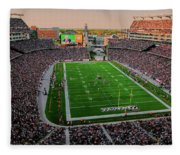 Elevated View Of Gillette Stadium, Home Fleece Blanket