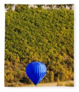 Elevated View Of Hot Air Balloon Fleece Blanket