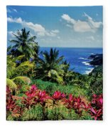 Elevated View Of Trees And Plants Fleece Blanket
