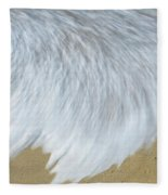 Elevated View Of Waves In Motion, Playa Fleece Blanket