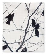 Eleven Birds One Morsel Fleece Blanket