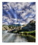 Colorado Landscape Fleece Blanket