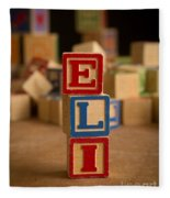 Eli - Alphabet Blocks Fleece Blanket
