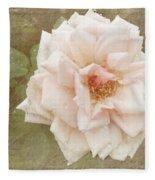Elie Beauvillain Rose Textured Art Fleece Blanket