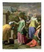 Eliezer And Rebecca At The Well Fleece Blanket