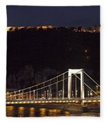 Elisabeth Bridge Budapest Fleece Blanket