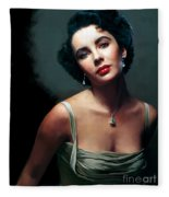 Elizabeth Taylor Fleece Blanket