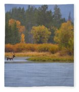 Elk Crossing Fleece Blanket