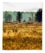 Elk In The Distance No. 1 Fleece Blanket
