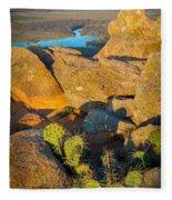 Elk Mountain Sunset Fleece Blanket