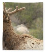 Elk Sky Gaze Fleece Blanket