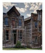 Elkhorn Ghost Town Public Halls - Montana Fleece Blanket