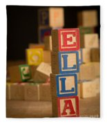 Ella - Alphabet Blocks Fleece Blanket