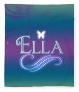 Ella Name Art Fleece Blanket