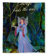 Ella Rose-courage Lights The Way Fleece Blanket
