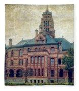 Ellis County Courthouse Fleece Blanket