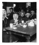 Ellis Island, 1920 Fleece Blanket