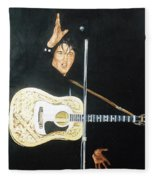 Elvis 1956 Fleece Blanket