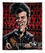 Elvis In Memphis Fleece Blanket
