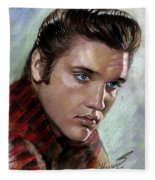 Elvis King Of Rock And Roll Fleece Blanket