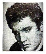 Elvis Love Me Tender Mosaic Fleece Blanket