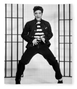 Elvis Presley In Jailhouse Rock 1957 Fleece Blanket