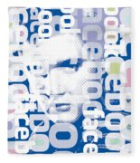 Elvis Presley On Facebook Fleece Blanket