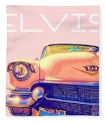 Elvis Presley Pink Cadillac Fleece Blanket