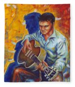 Elvis Presley- Shadow Duet Fleece Blanket