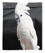 Elvis The Cockatoo Fleece Blanket