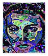 Elvis The King Abstract Fleece Blanket