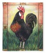 Elvis The Rooster Fleece Blanket