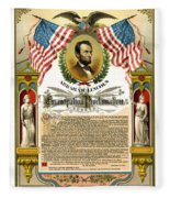 Emancipation Proclamation Tribute 1888 Fleece Blanket