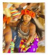 Embera Villagers In Panama Fleece Blanket