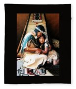 Embraced In Wisdom Fleece Blanket