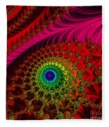 Embroidered Silk And Beaded Square Fleece Blanket