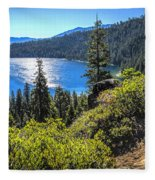 Emerald Bay Lake Tahoe California Fleece Blanket