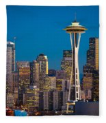 Emerald City Evening Fleece Blanket