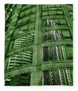 Emerald City Reflections - Seattle Washington Fleece Blanket