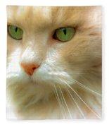 Emerald Eyes Fleece Blanket