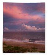 Emerald Isle Sunset Fleece Blanket