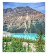 Peyto Lake 7 Fleece Blanket
