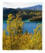 Emerald Lake At Carcross Yukon Territory Canada Fleece Blanket