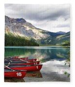 Emerald Lake Yoho National Park Fleece Blanket