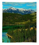 Emerald Lake - Yukon Fleece Blanket
