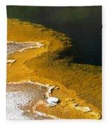 Emerald Pool Yellowstone National Park Fleece Blanket