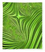 Emerald Scream Fleece Blanket