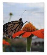 Emerging Monarch Fleece Blanket
