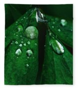 Emerald Rain Fleece Blanket