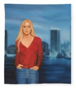 Emily  Miami Skyline Fleece Blanket